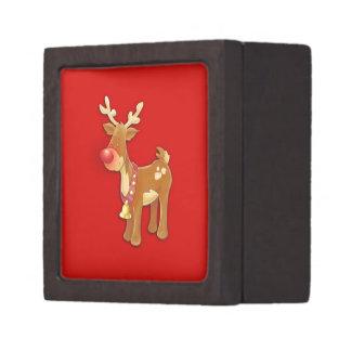 el reno sospechado rojo cajas de regalo de calidad