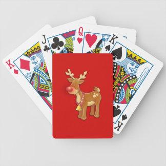 el reno sospechado rojo cartas de juego