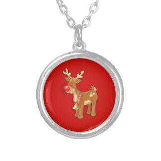 el reno sospechado rojo colgante redondo
