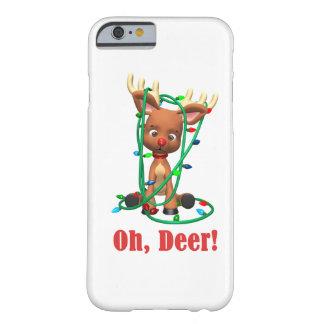 el reno sospechado rojo consigue enredado para funda barely there iPhone 6