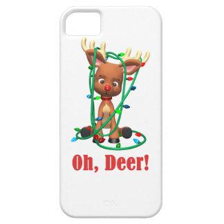 el reno sospechado rojo consigue enredado para funda para iPhone SE/5/5s