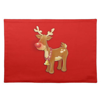 el reno sospechado rojo manteles