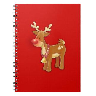 el reno sospechado rojo note book