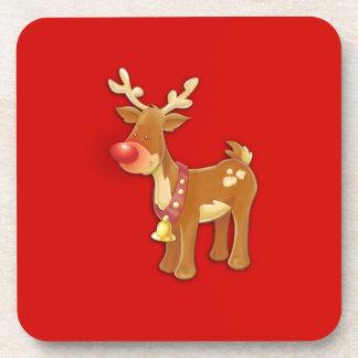 el reno sospechado rojo posavaso