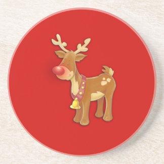 el reno sospechado rojo posavasos para bebidas