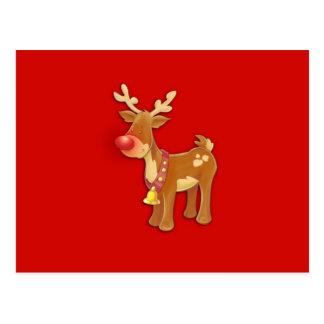 el reno sospechado rojo tarjetas postales