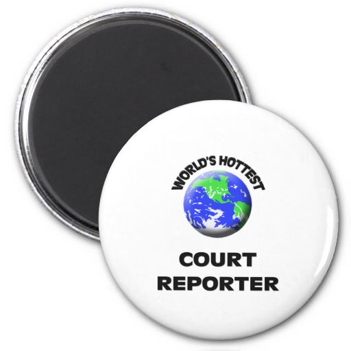 El reportero de la corte más caliente del mundo imanes de nevera