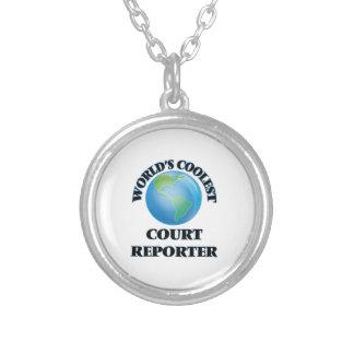 El reportero de la corte más fresco del mundo colgante redondo