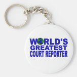 El reportero de la corte más grande del mundo llaveros personalizados