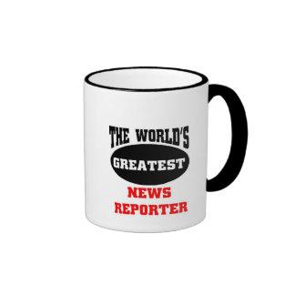 El reportero más grande de las noticias del mundo, taza a dos colores