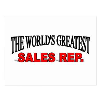 El representante más grande de las ventas del postal
