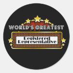 El representante registrado más grande del mundo pegatina