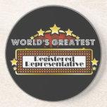 El representante registrado más grande del mundo posavasos personalizados