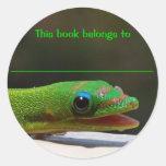 El reptil de la lectura este libro pertenece a pegatina redonda