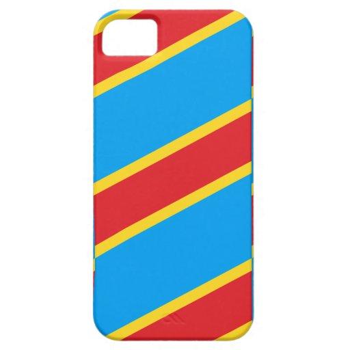 El República del Congo Democratic iPhone 5 Case-Mate Protectores