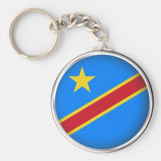 El República del Congo Democratic redondo Llaveros