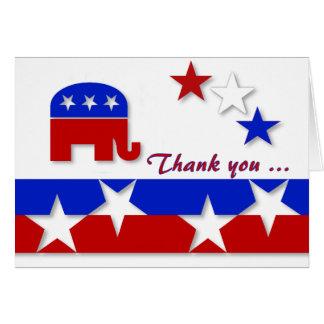 El republicano le agradece cardar tarjeta de felicitación