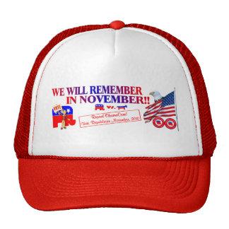 El republicano recuerda en noviembre ObamaCare ant Gorro
