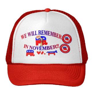 El republicano recuerda en noviembre ObamaCare ant Gorras