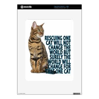 EL RESCATE DE UN CAT NO CAMBIARÁ EL MUNDO SINO SUR SKIN PARA EL iPad