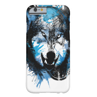 El resplandor 2016 del lobo funda barely there iPhone 6