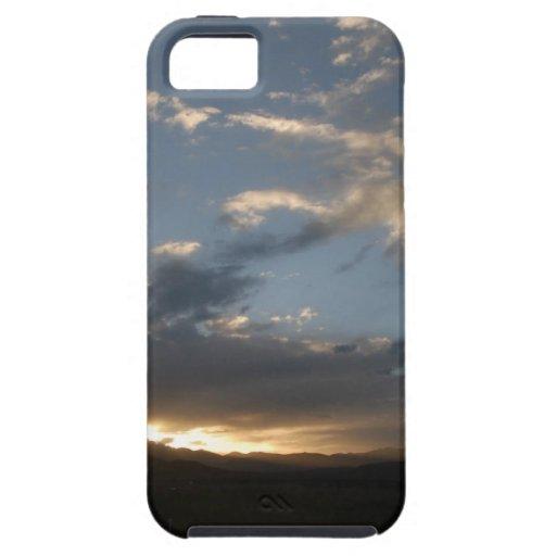 El resplandor de la puesta del sol en Tíbet iPhone 5 Fundas