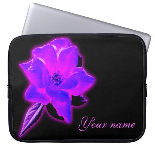 El resplandor de neón púrpura color de rosa místic funda ordendadores