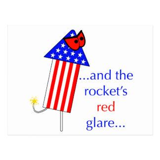 El resplandor del rojo de Rockets Postal
