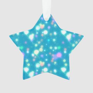 El resplandor ligero hincha diseño azul brillante
