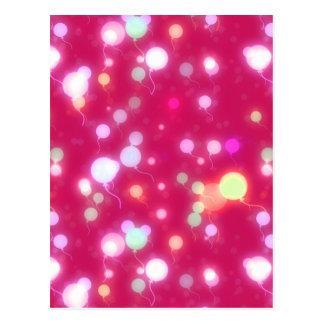 El resplandor ligero hincha diseño magenta oscuro tarjetas postales