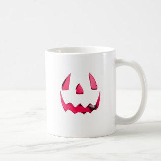 El resplandor rosado Jack O'Lantern hace frente Taza De Café