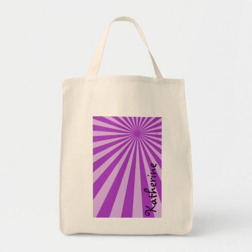 """El resplandor solar púrpura """"añade su conocido """" bolsa tela para la compra"""