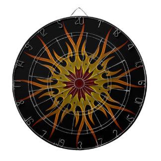 El resplandor solar Sun irradia el tablero de