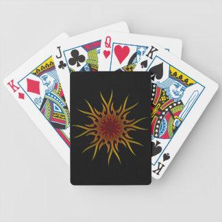 El resplandor solar Sun irradia naipes Baraja Cartas De Poker