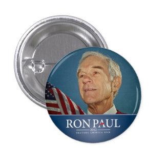 El restablecimiento América de Ron Paul ahora abot Pin Redondo De 1 Pulgada
