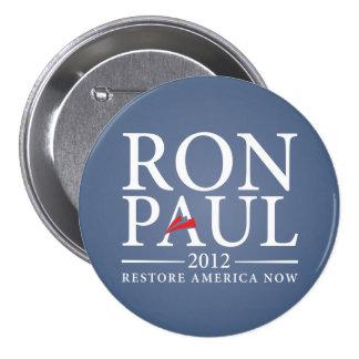 El restablecimiento América de Ron Paul ahora abot Pin Redondo De 3 Pulgadas