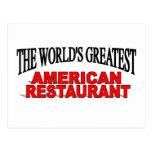 El restaurante americano más grande del mundo tarjeta postal