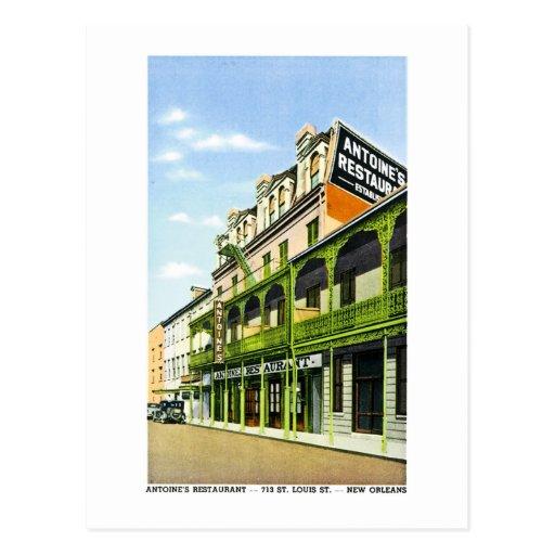 El restaurante de Antoine, New Orleans, LA Postales