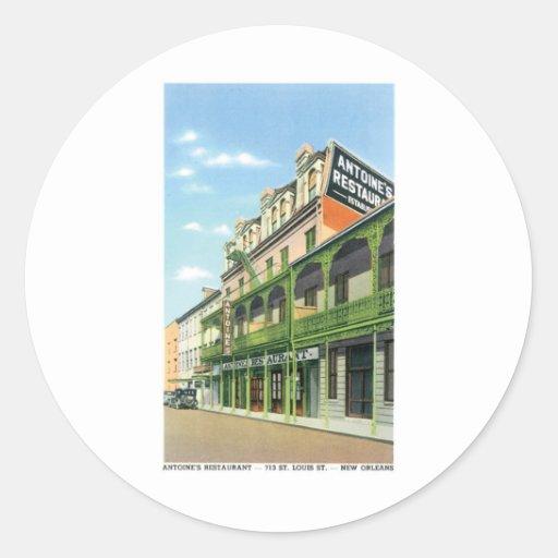 El restaurante de Antoine, New Orleans, Luisiana Pegatina Redonda