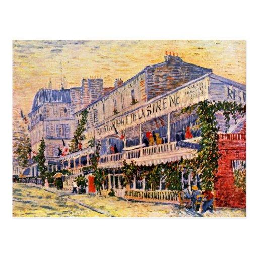 El restaurante De La Sirène At Asnières Tarjetas Postales