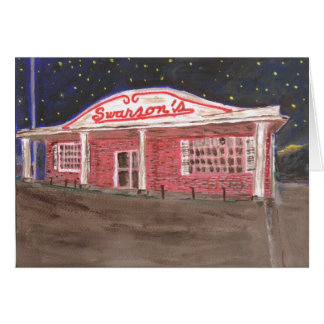 El restaurante de Swanson Tarjeta De Felicitación