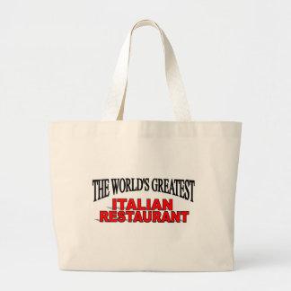 El restaurante italiano más grande del mundo bolsa lienzo