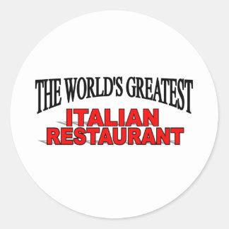 El restaurante italiano más grande del mundo pegatina redonda