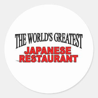 El restaurante japonés más grande del mundo pegatina redonda
