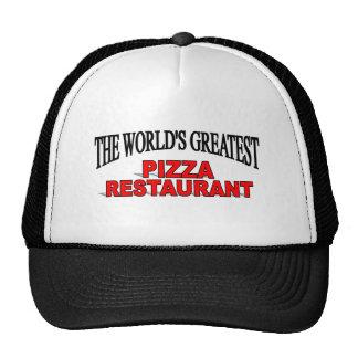El restaurante más grande de la pizza del mundo gorras