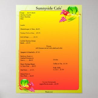 El restaurante suministra el poster Sunnyside de l