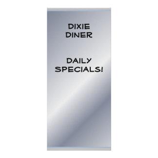El restaurante suministra los Specials diarios (el Tarjeta Publicitaria Personalizada