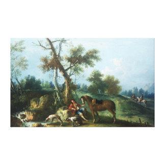 El resto del Huntsman, siglo XVIII Lienzo Envuelto Para Galerias