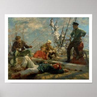El resto del mediodía (marineros que cuentan un cu póster