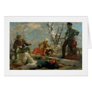 El resto del mediodía (marineros que cuentan un cu tarjeta de felicitación